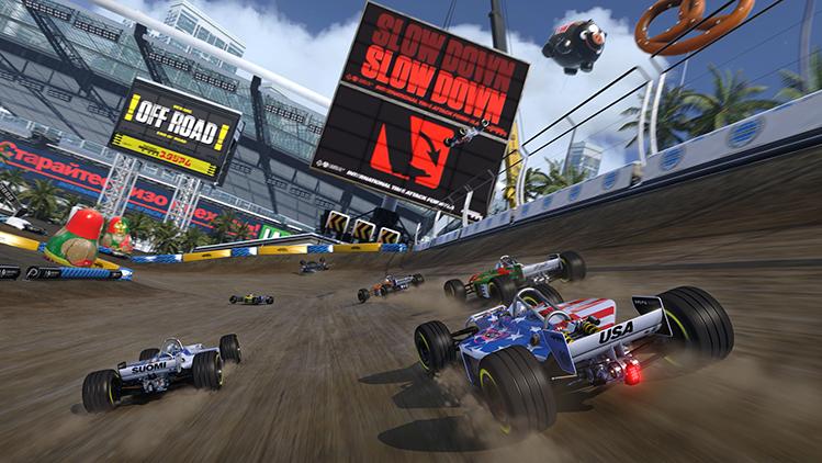 Игра в жанре «гонки»: Track mania turbo