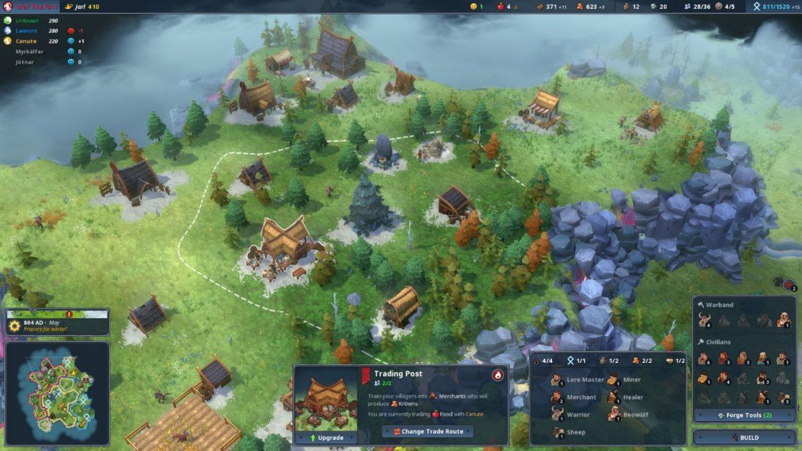 Геймплей игры Northgard