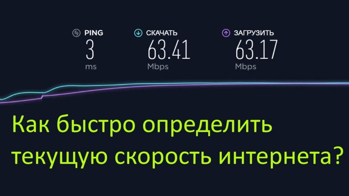 Проверяем скорость интернета