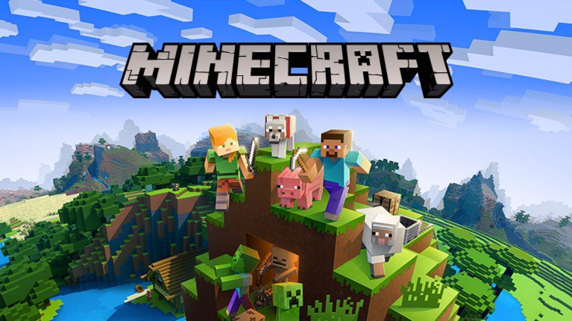 Заставка одной из версий игры Minecraft