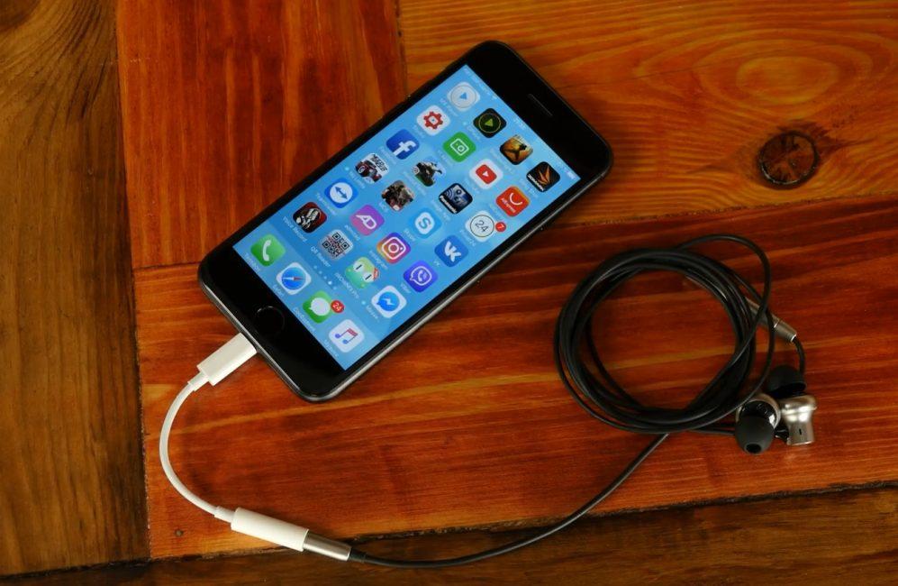 Для iPhone 7 нужен переходник