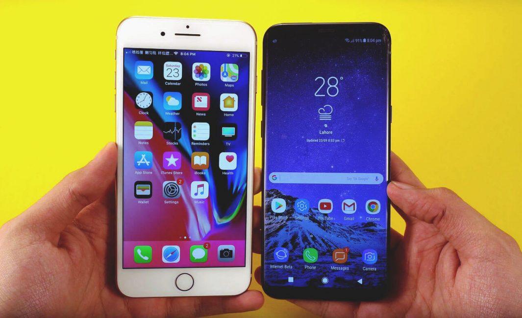 Сравнение внешнего вида смартфонов