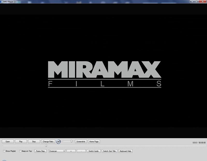 Рабочее окно MKV Player
