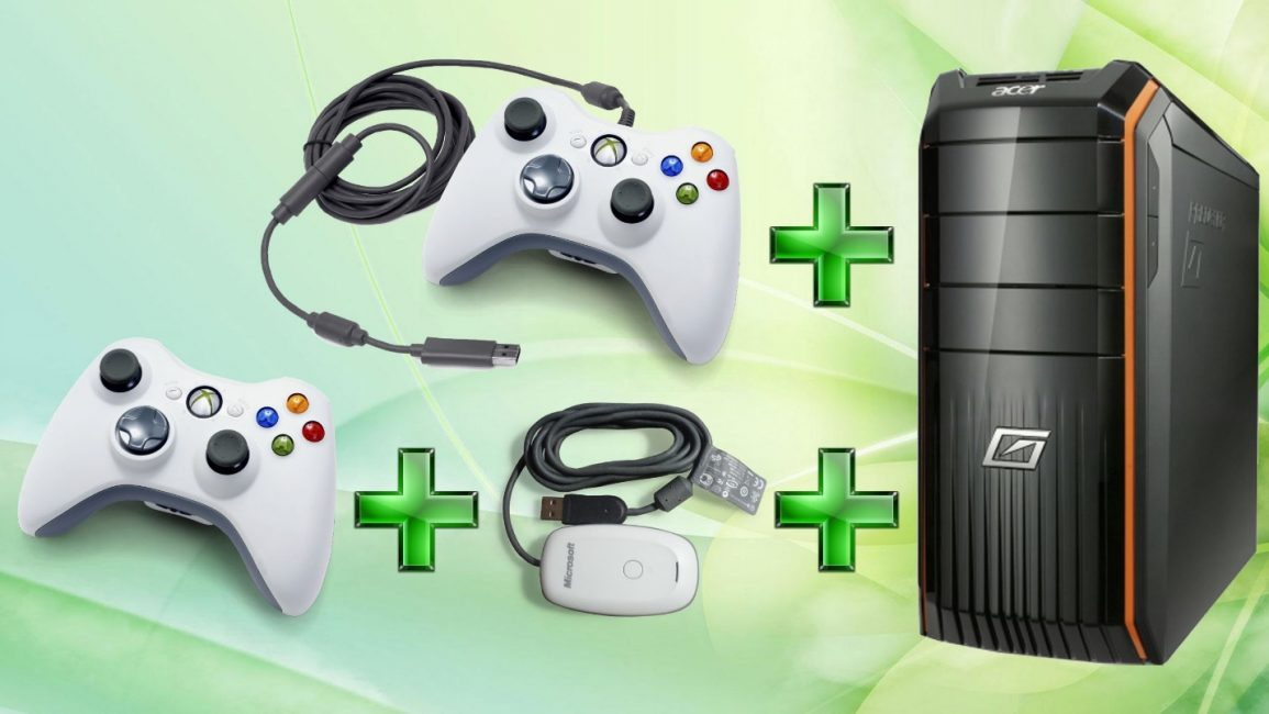 Внешний вид подключаемых джойстиков Xbox 360