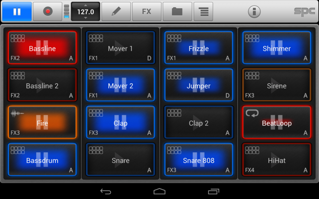 Программа для создания музыки на андроид Mikrosonic SPC - Music Sketchpad 2