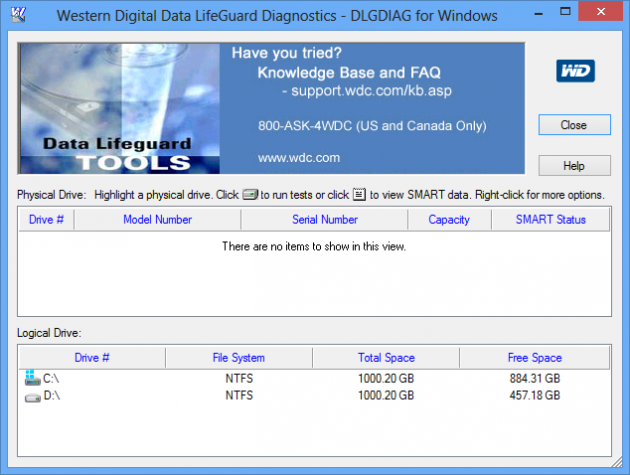 Western Digital Data Lifeguard Diagnostic