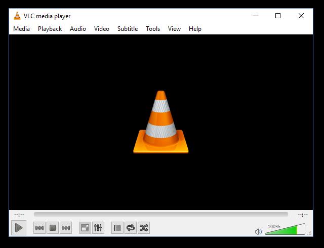 Рабочее окно VLC Media Player