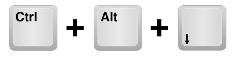 Комбинация горячих клавиш для переворота экрана