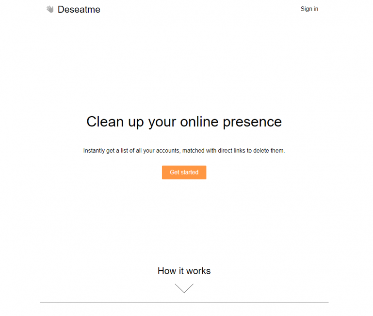 Внешний вид сайта deseat.me