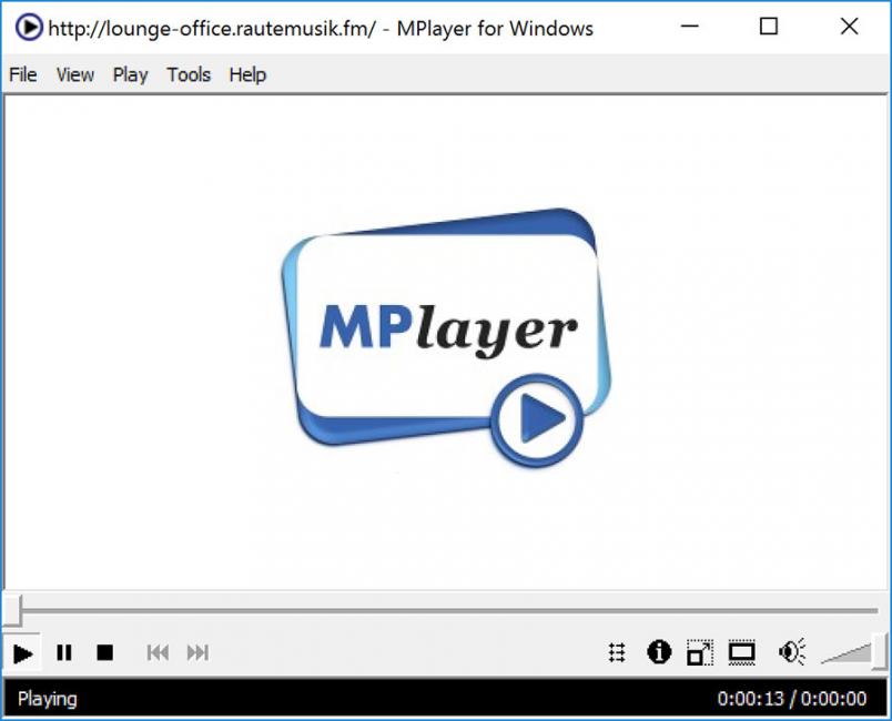 Рабочее окно MPlayer