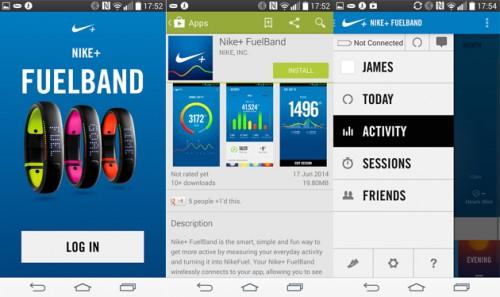 Приложения для фитнес браслетов Nike