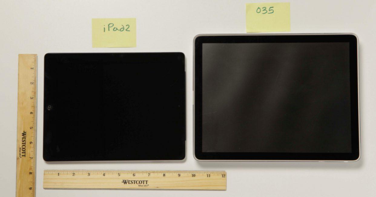 Экран прототипа 035 в сравнении iPad2