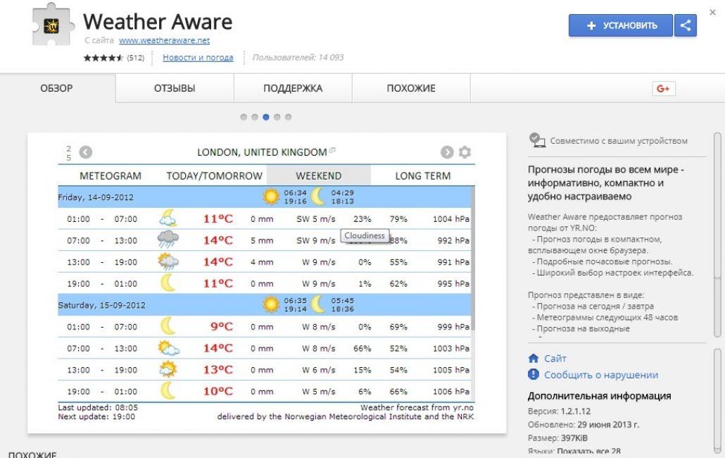 Weather Aware