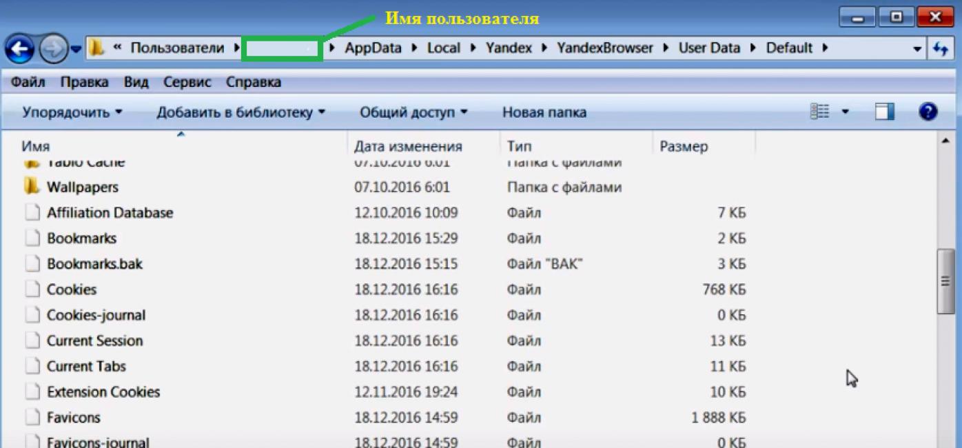 Путь к хранению паролей в Яндекс браузере
