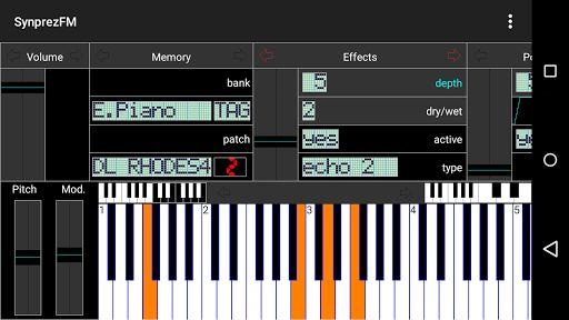 Программа для создания музыки на андроид Синтезатор FM [СинпрэFM II]
