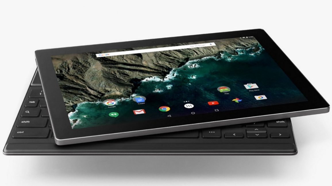 Внешний вид планшета Google Pixel C
