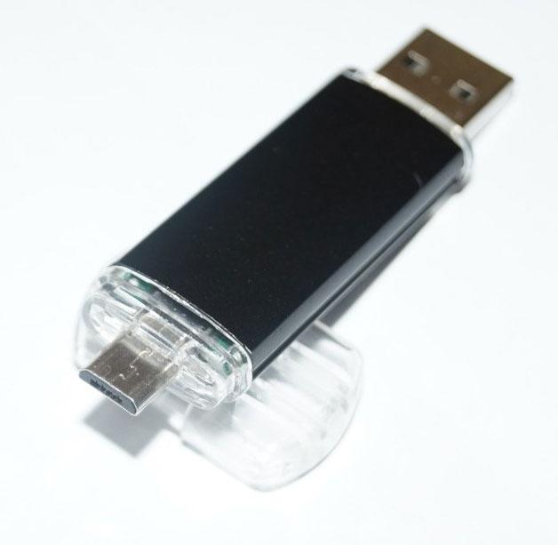 Флеш-накопитель с USB и micro-USB разъемами