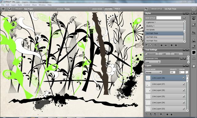 Приложение для рисования на компьютере Livebrush