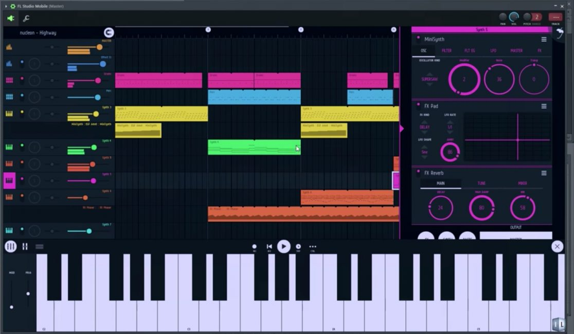 Программа для создания музыки на андроид Image-Line FL Studio Mobile