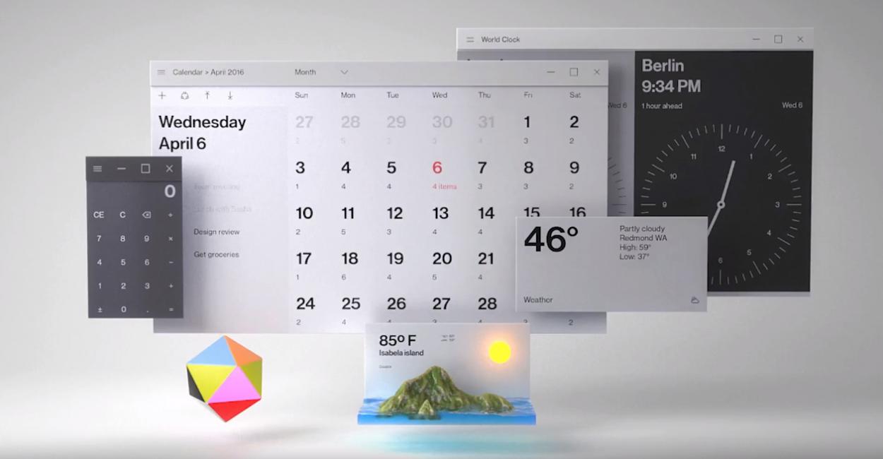 Вот так через пару лет будет выглядеть дизайн Windows 10