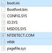 Появление скрытых файлов