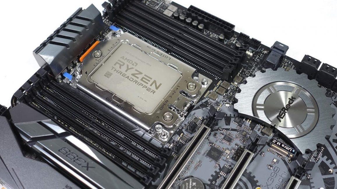 Внешний вид процессора Ryzen на сокете TR4