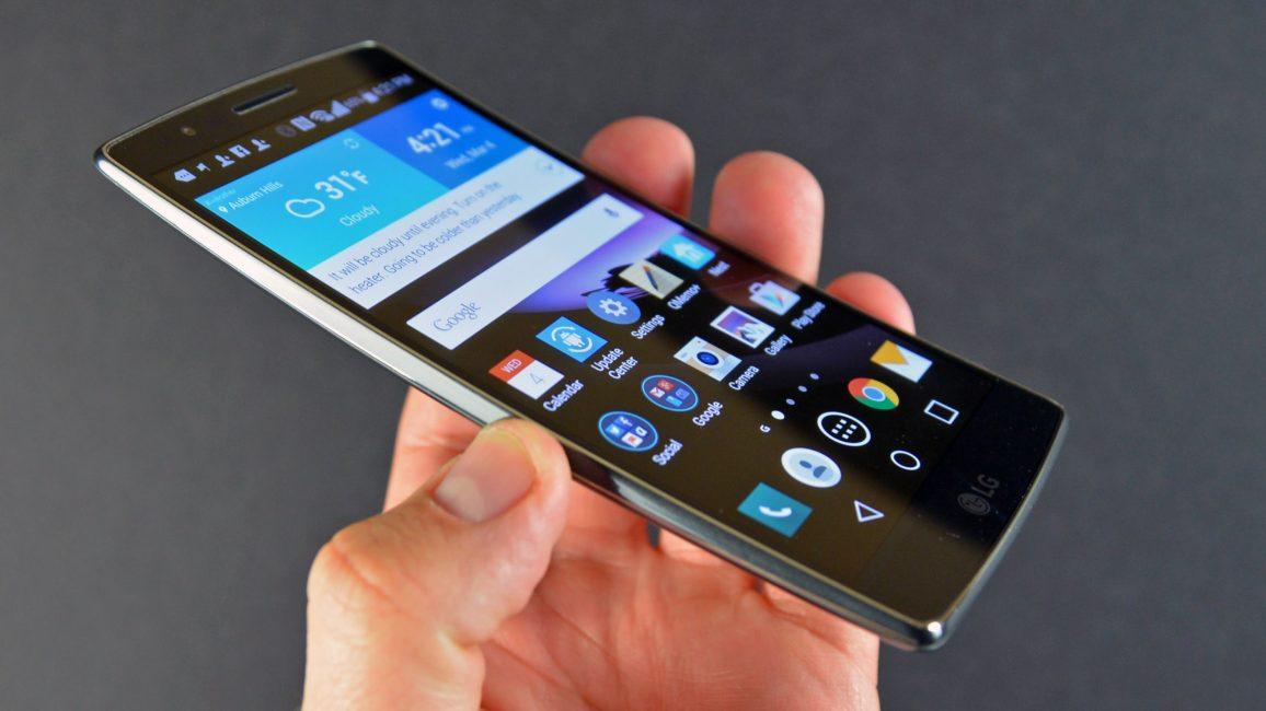 Внешний вид телефона LG G Flex2