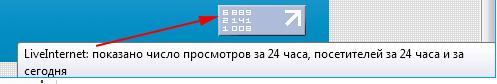 Информер Liveinternet