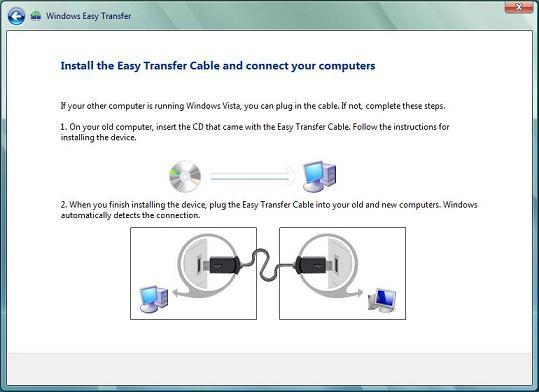 Установка Easy transfer