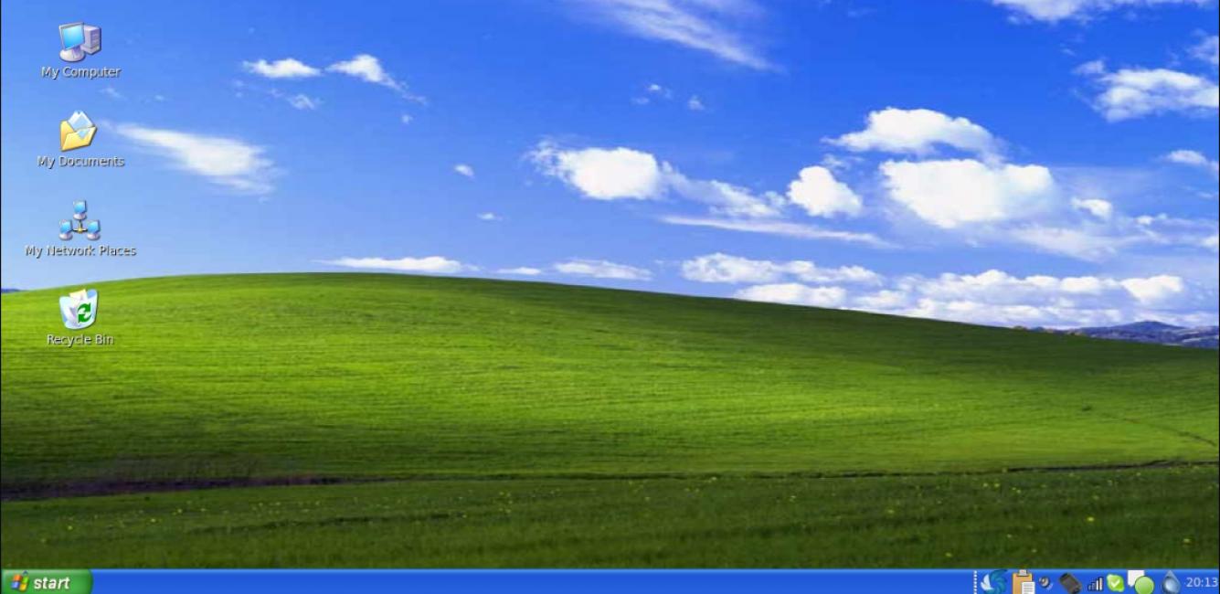 Стартовая страница Windows XP