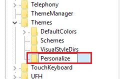 Переименование нового раздела в Personalize