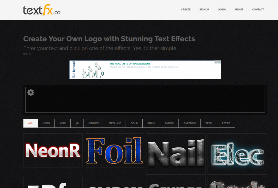 Главная страница сайта textfx.co