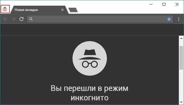 Браузер Google Chrome в режиме инкогнито