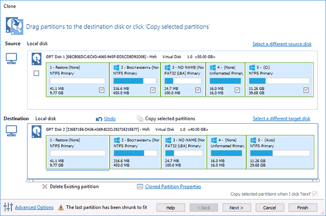 Подготовка переноса Windows на SSD