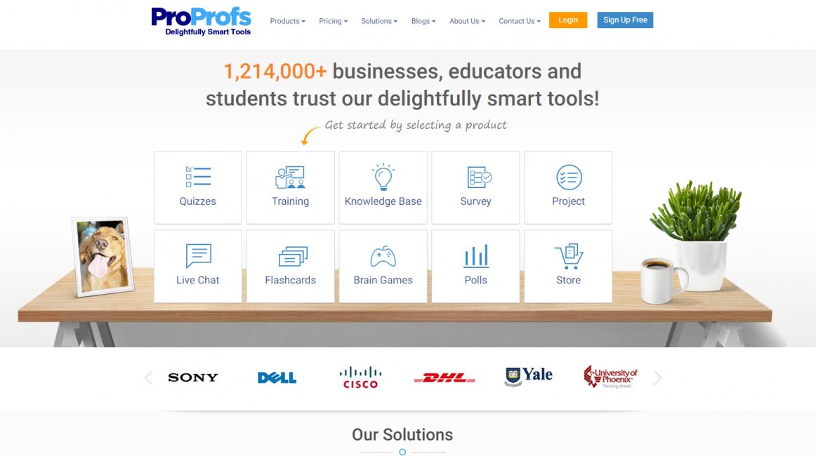 Главная страница сайта PROPROFS