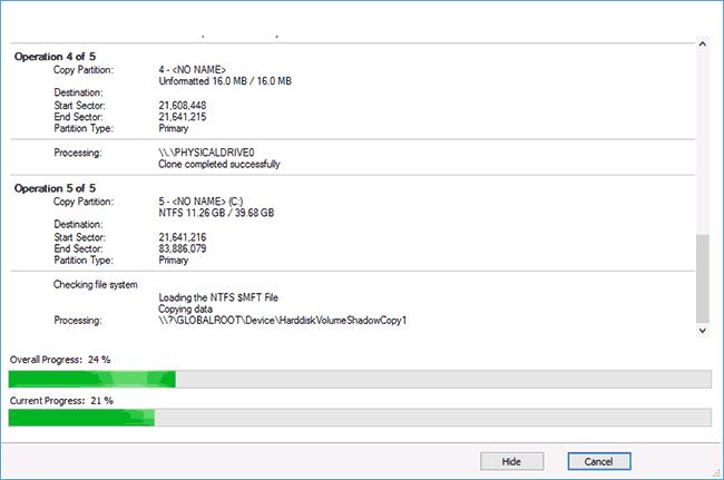 Процесс переноса ОС на SSD