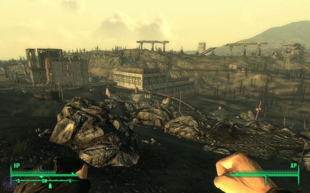 Вид на руины мира