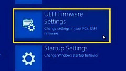 Пункт выбора UEFI