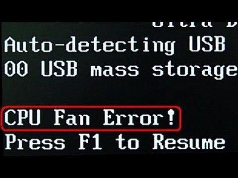 Ошибка вентилятора процессора (cpu fan error)