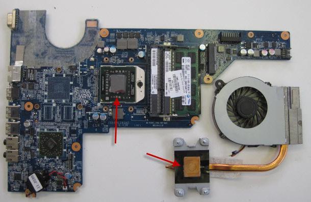 Установка процессора и охлаждающей системы (кулера)