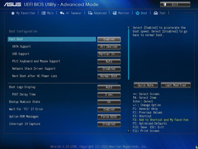 Вид UEFI BIOS Utility