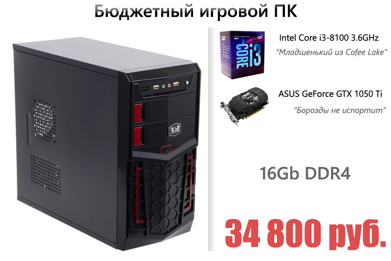 Сборка игрового компьютера в 2018 году