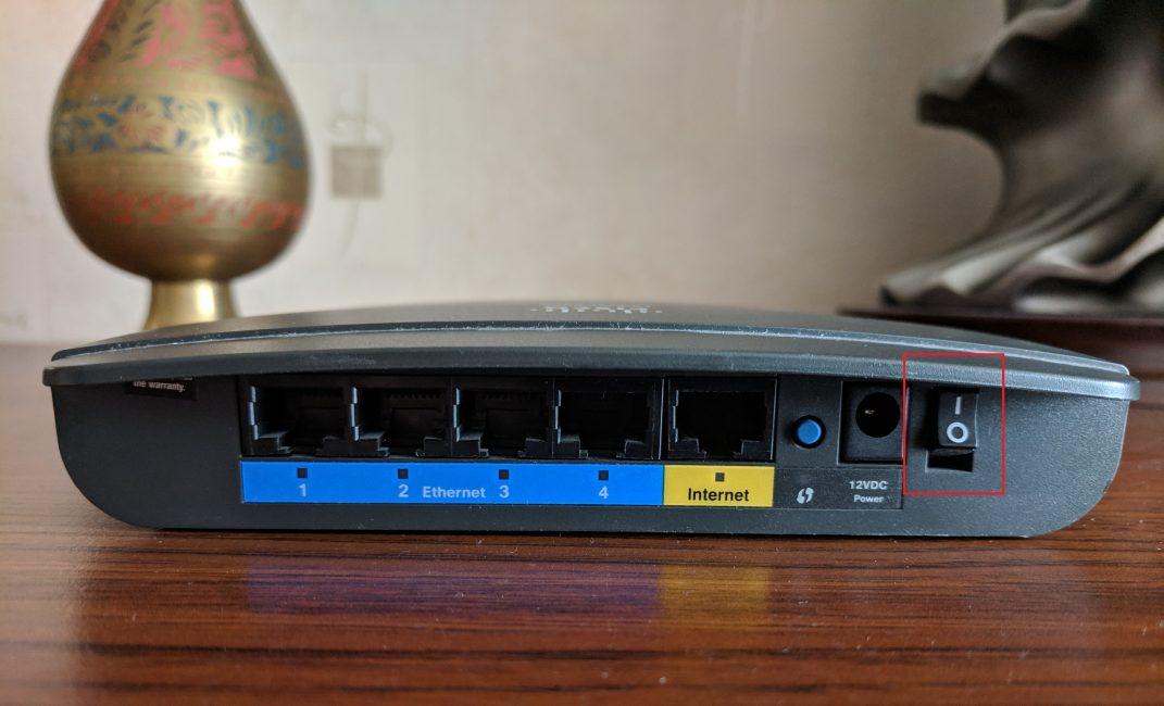 Неопознанная сеть без доступа к интернету. Решение проблемы