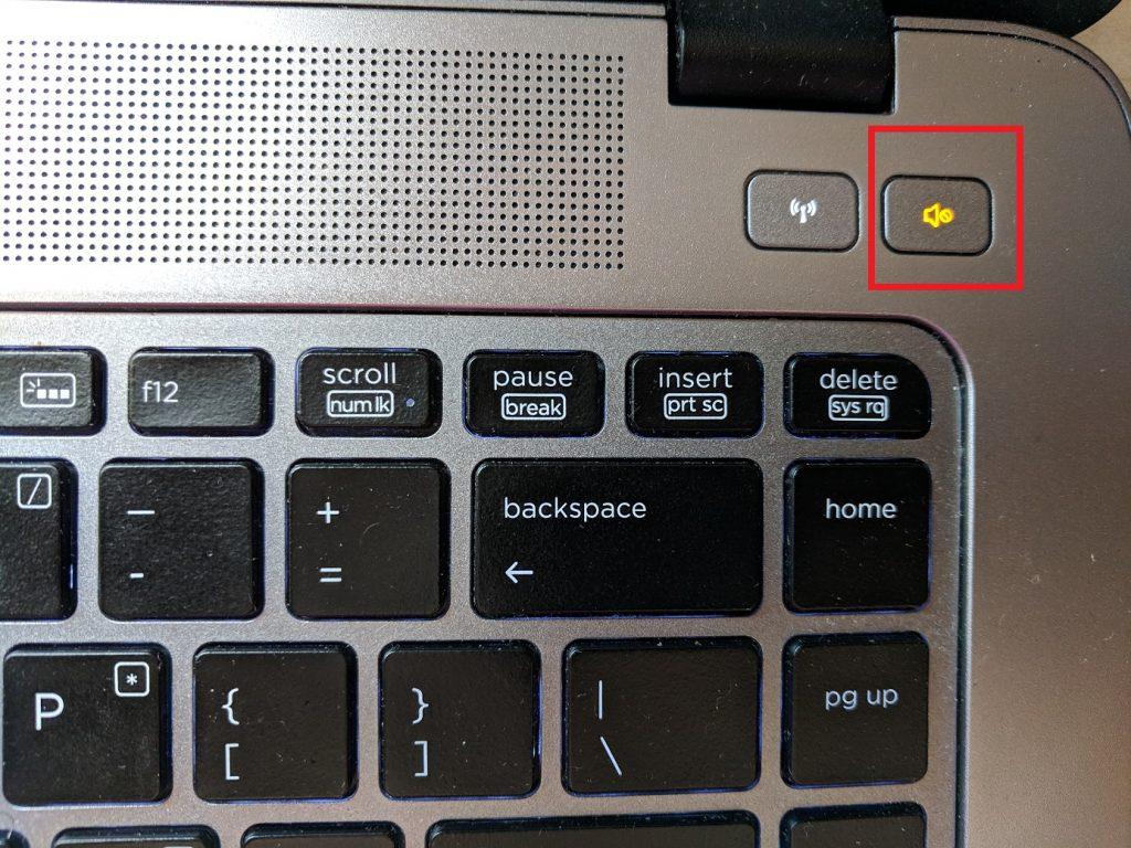 Проверьте, не отключен ли звук при помощи клавиатуры