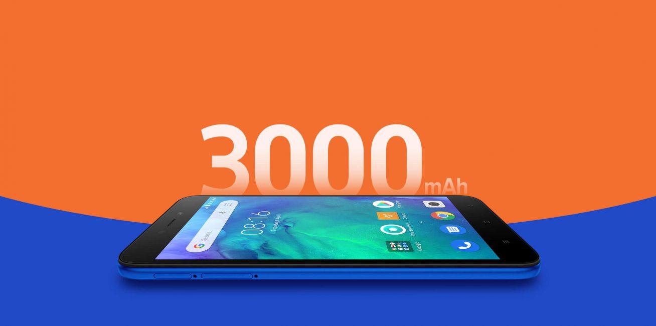 В смартфоне аккумулятор с емкостью 3000 мАч