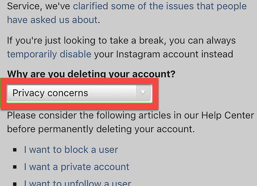 Как удалить аккаунт в Инстаграм