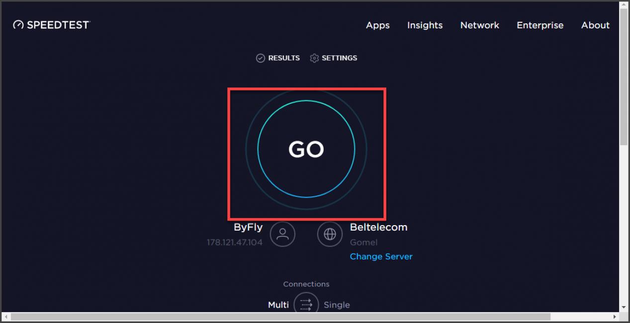 Узнаем скорость интернета
