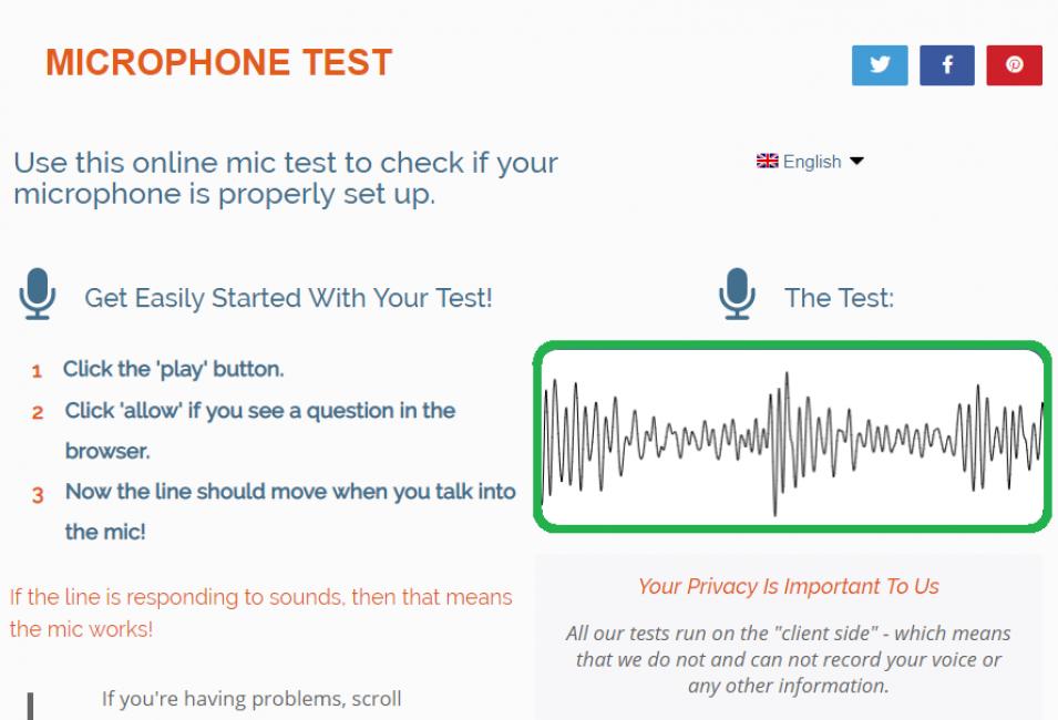Быстрая и бесплатная проверка микрофона онлайн