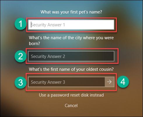 Меняем пароль в «десятке»