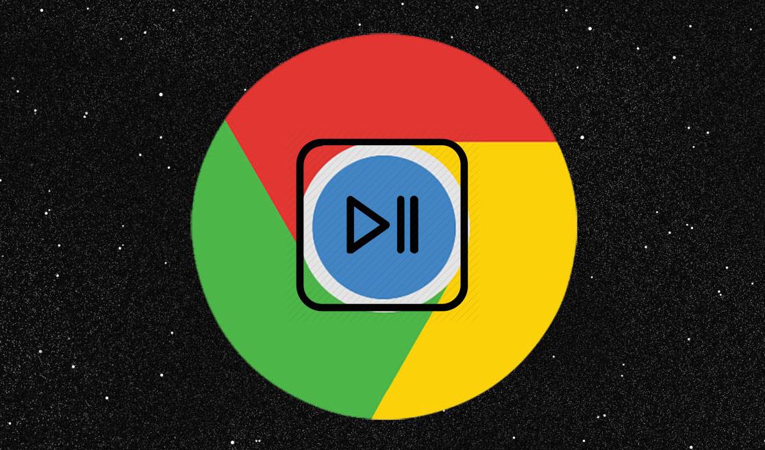 тестирует кнопку управления воспроизведением музыки и видео в Chrome